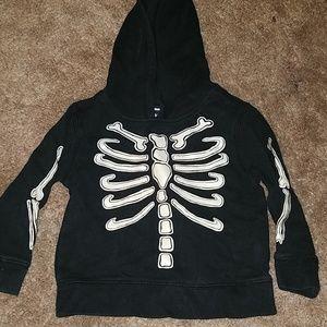 Glow in the dark skeleton hoodie halloween